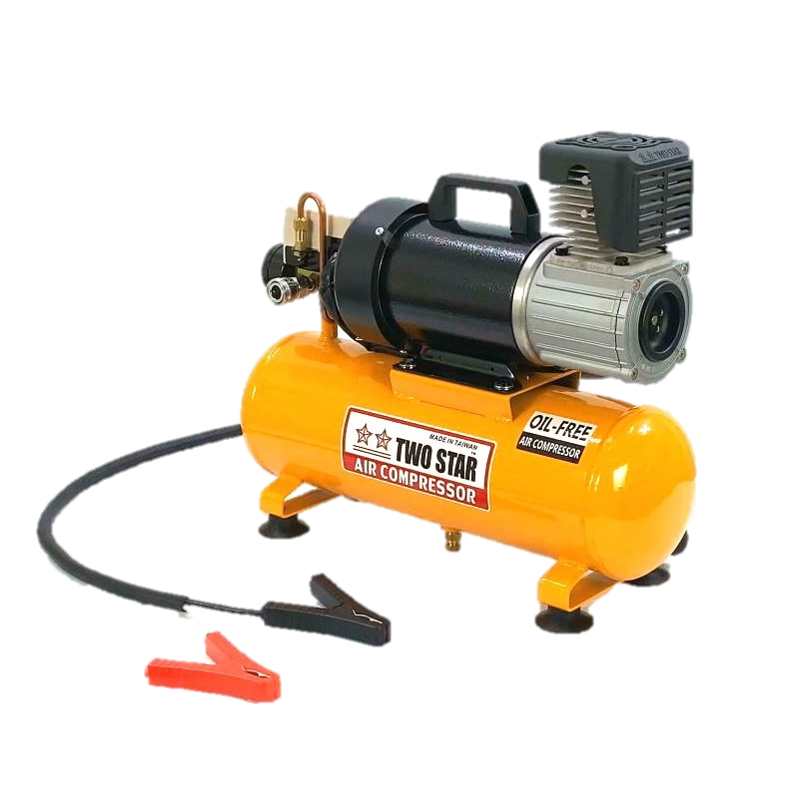 Two Star DC Oil Free Air Compressor with 8 liter tank