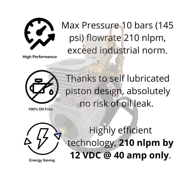 Two Star FD-D1P Waterproof DC Air Compressor
